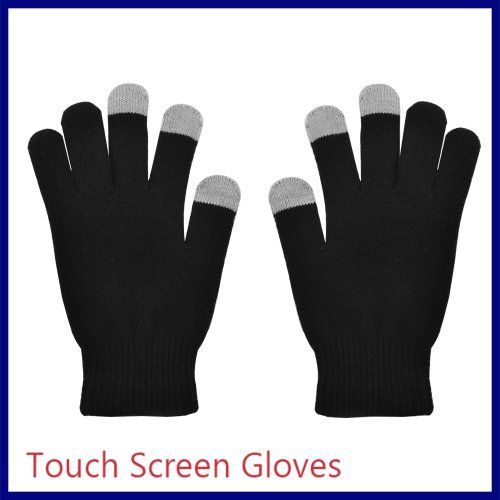 nice Unisex Smart Touch Screen Warm Winter Gloves for iPhone 5 /iPad 4/ iPad Mini iPhone 3 3GS 4 4S iPad 2 3 Blackberry Samsung i9100 HTC and other smart phones, PDA's, Compatible with : ALL Touch screen devices, Universal, ONE SIZE, 1 pair, black