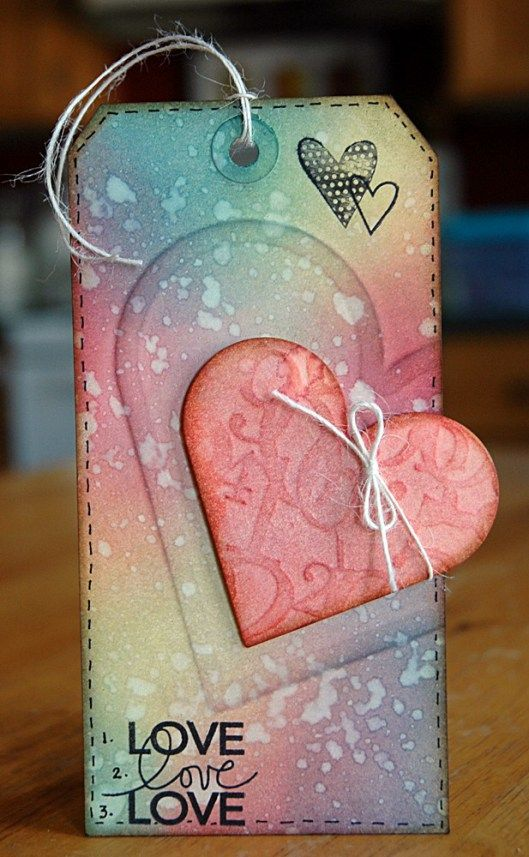 Dry Embossing with Wafer Thin Dies - finished tag