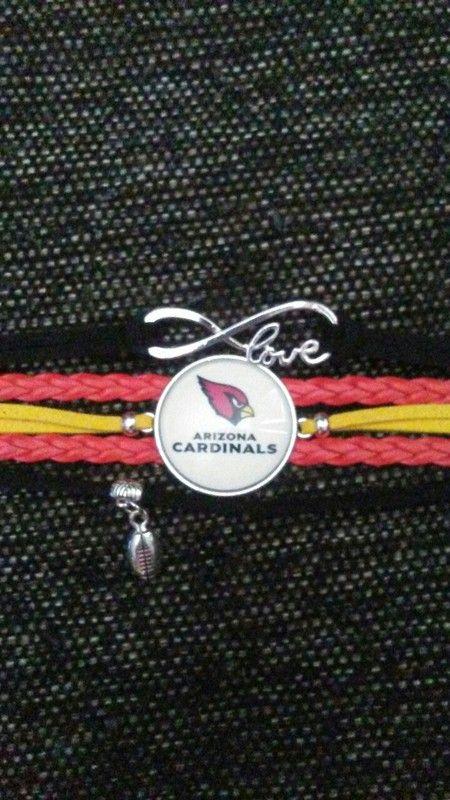 NFL Arizona Cardinals Infinity Charm Bracelet