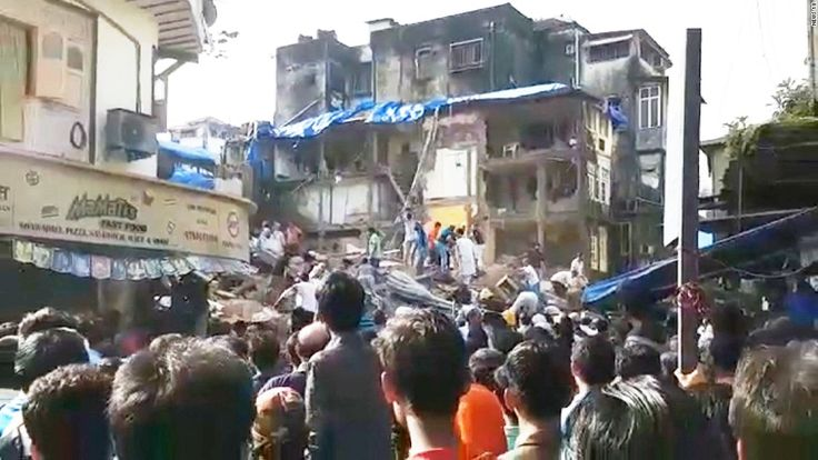 3-story building collapses; people trapped