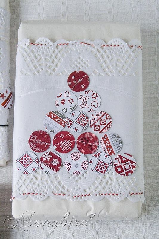 Red & White Gift Wrapping Ideas for Christmas