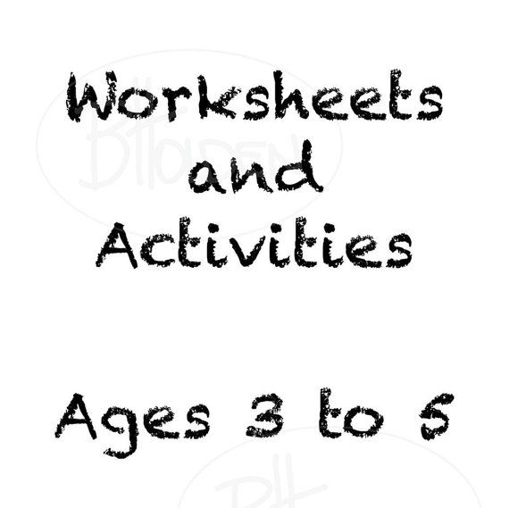 Toddler Worksheets and Activities Digital File by SapphireMoonArt