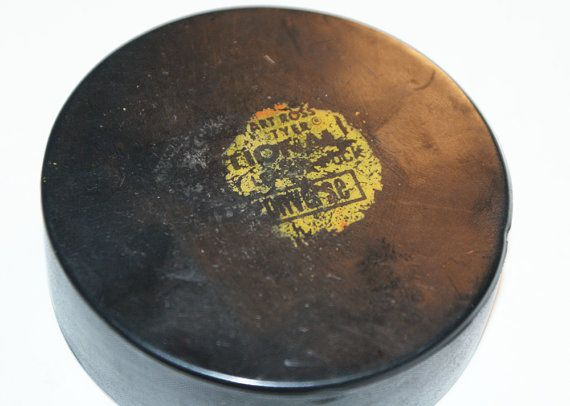 1960's Art Ross Tyer Converse Hockey Puck by TheMysteryAttic