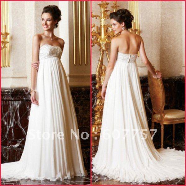 Empire Ruffle Wedding Dress