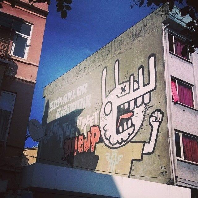 Street art in Beyoglu Istanbul