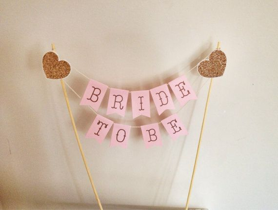 Cake Banner Topper  Bride To Be Bridal Shower by SharpAndChic, $16.50