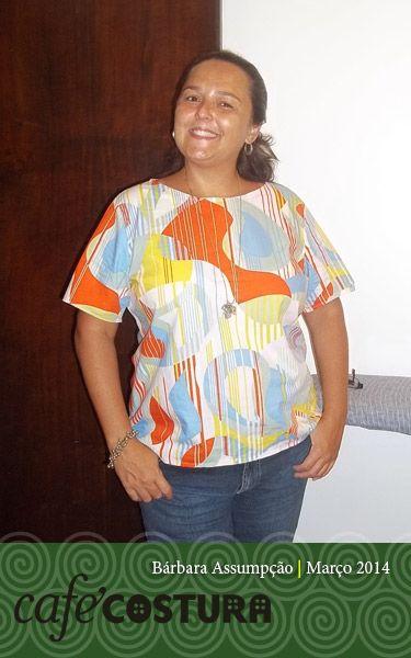 Mais uma linda blusa da Bárbara.