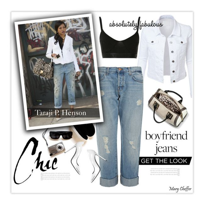 Borrowed from the Boys: Taraji P. Henson in Boyfriend Jeans by mcheffer on Polyvore featuring polyvore fashion style LE3NO J Brand Baja East Off-White Mossimo clothing boyfriendjeans