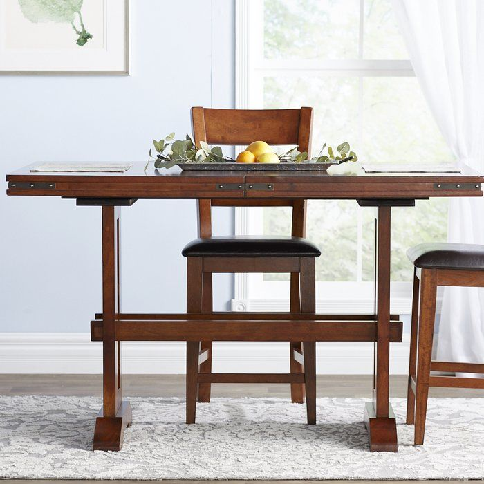 Nashoba Counter Height Extendable Dining Table Extendable Dining