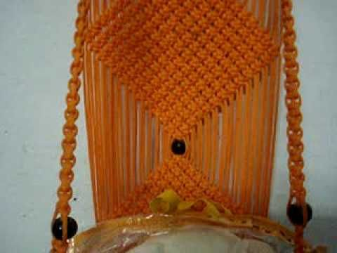 DIY simple tutorial of Macrame Jhula Design 4 | Macrame Art - YouTube
