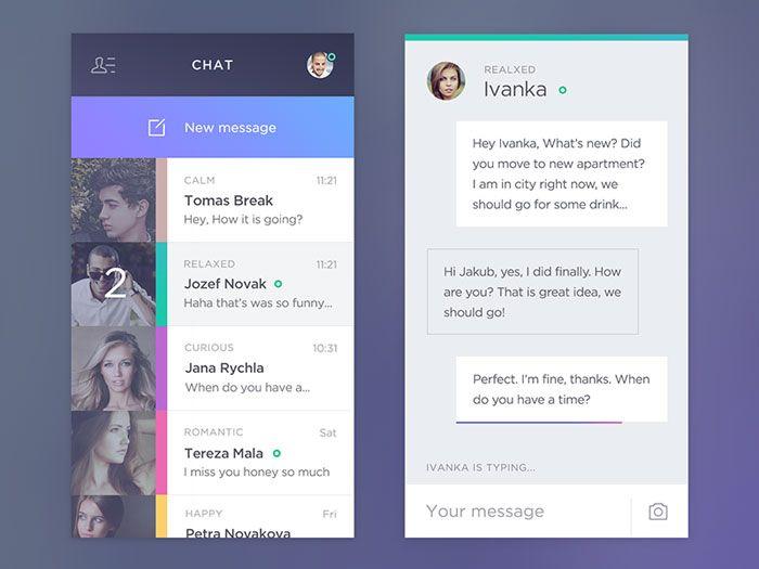 Chat #app - Via http://www.themangomedia.com/blog/gorgeous-user-interface-design-inspiration/ @teammangomedia
