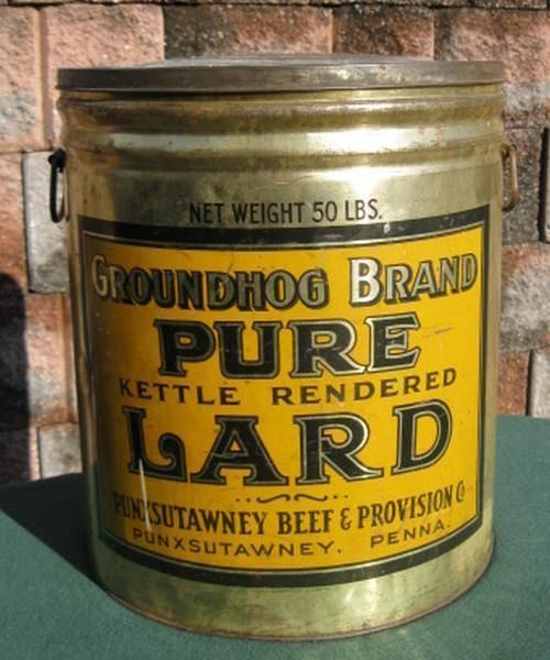 Vintage Lard Cooking Punxsutawney Phil Groundhog 50lb Chef