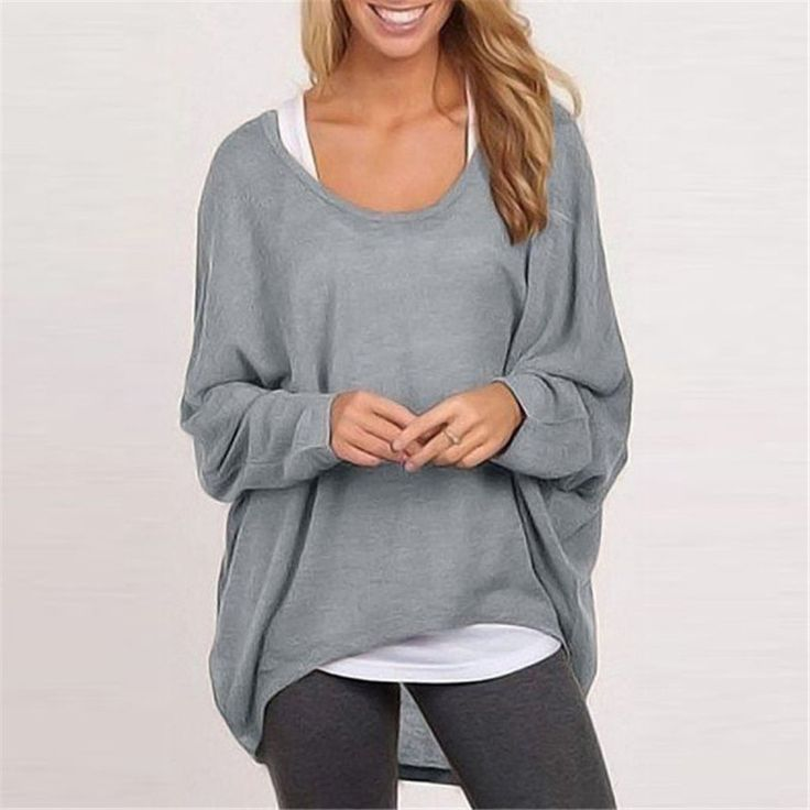Batwings Sleeve Casual T Shirt