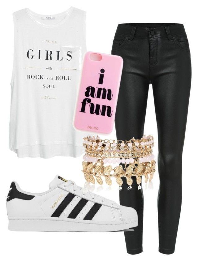 """fun look"" by emma-katexx on Polyvore featuring MANGO, adidas, River Island, women's clothing, women, female, woman, misses and juniors"