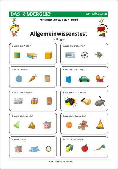Allgemeinwissenstest Deutschland