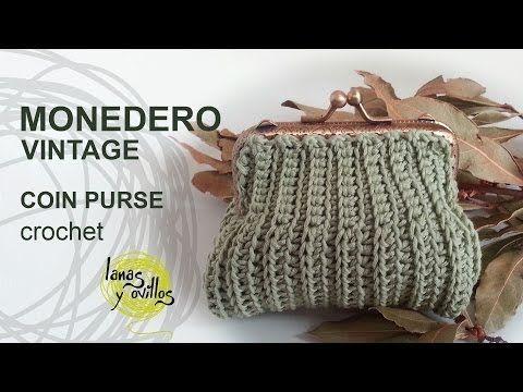 ▶ Tutorial Monedero Crochet Vintage Quadrado - YouTube ༺✿Teresa Restegui http://www.pinterest.com/teretegui/✿༻
