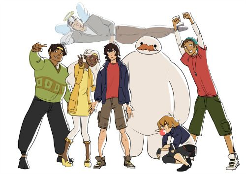 Voltron x Big Hero 6, Shiro, Keith, Lance, Hunk, Pidge, Coran, Allura