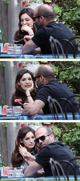 Kelly Brook was snapped having lunch with her old flame, actor Jason Statham, in California |  News of the World Top Hollywood Celebrity