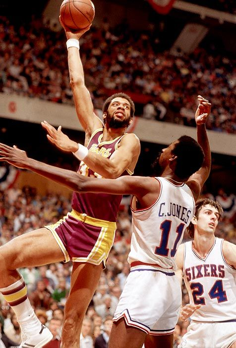Kareem during the 1980 NBA Finals.