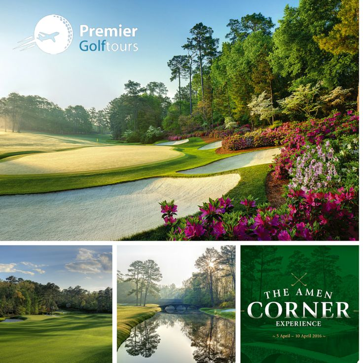 """White Dogwood. Golden Bell. Azalea. These are the three holes that make up Augusta's iconic """"Amen Corner"""", nicknamed as such after Arnold Palmer's spectacular 1958 Masters win. Don't miss the opportunity to see the world's best play at Augusta on our US Master's tours in April 2016 goo.gl/4L9vN4  #golf #amencorner #augusta #premiergolf"""