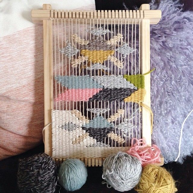 #wip pillow weaving by Melissa Jenkins | #mjdweavings