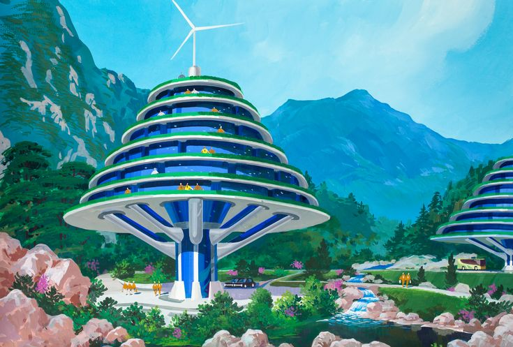 A North Korean Architect Imagined The Future, And It's Crazy/Beautiful