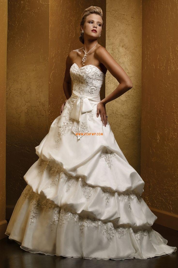 Traîne moyenne Elégant & Luxueux Gradins Robes de mariée de luxe