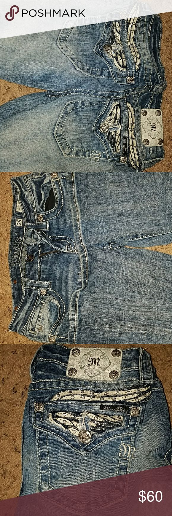 Angel Wing Miss mes 25 Like new miss mes. Bought and then grew out of shortly after Miss Me Jeans Boot Cut