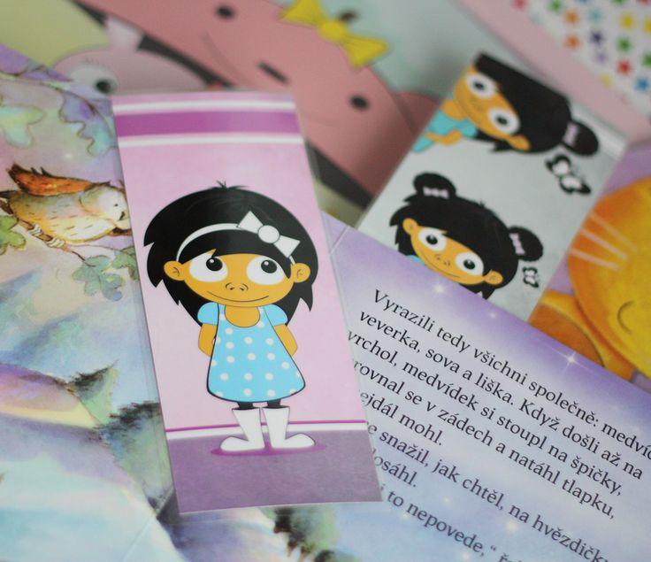 Záložka+do+knihy+-+2kusy+♥+Roztomilé+záložky+pro+každou+správnou+čtenářku+:-)+Záložky+jsou+kvalitně+vytištěny+na+papír+silnější+gramáže.+Rozměry+záložky:+7cm+x+18cm+Jedná+se+o+originální,autorské+ilustrace+:o)