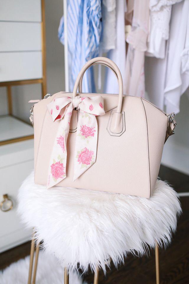 Givenchy Antigona handbag with Valentino silk scarf