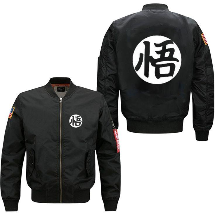 spring autumn mans flight jacket anime Dragon ball Son Goku Sun Wukong print man bomber baseball uniform USA size