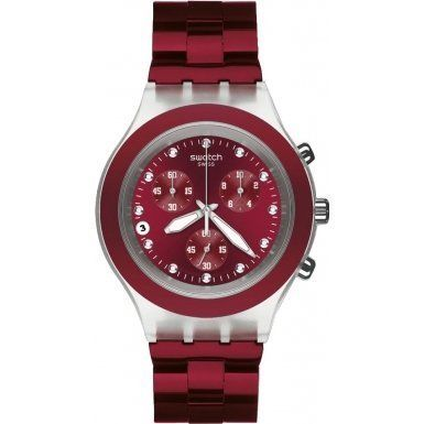 Swatch Full Blooded Smoky Burgundy Chronograph Watch SVCK4054AG - Watches For Women