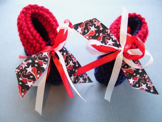 Houston TEXANS Football Fans Handmade Baby Booties by ZZsTeamTime, $10.00