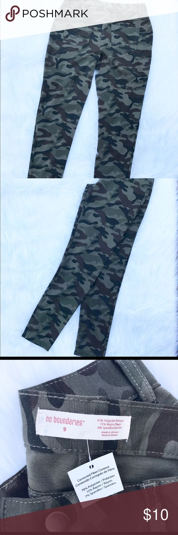 Women's camouflage skinny's Women's camouflage skinny jeans No Boundaries Pants Skinny