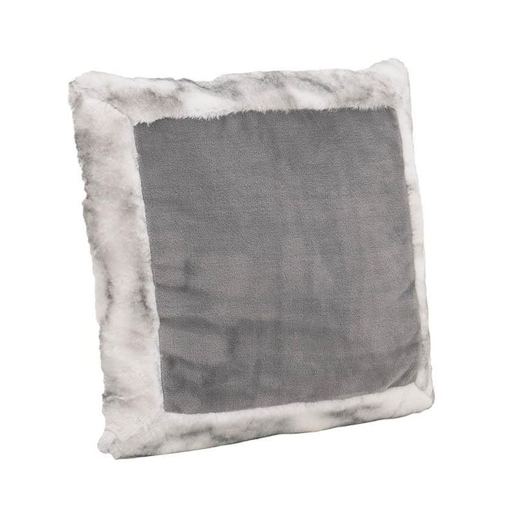 SYNTHETIC FUR CUSHION COVER IN GREY COLOR 40X40 - Furs - FABRIC ITEMS