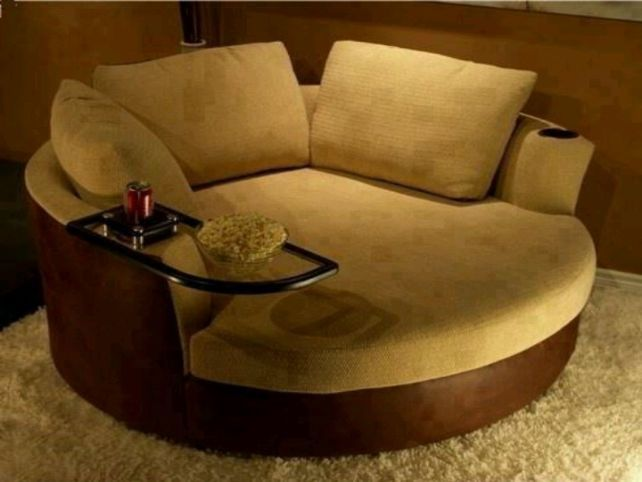 oversized swivel round chair  Would love something like this if we ever move to house that's big enough to accommodate it
