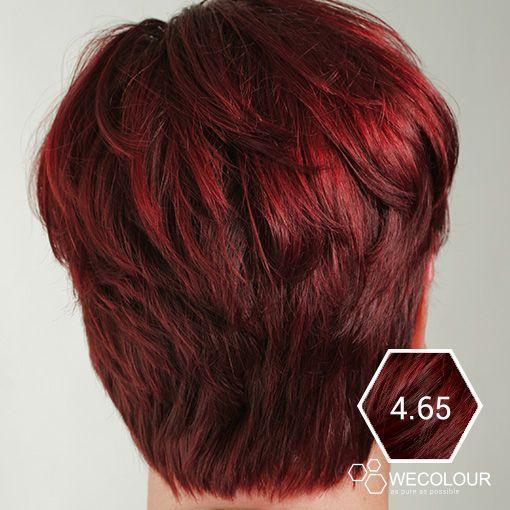 Net geverfd haar met de 4.65 mahonie rood bruin van WECOLOUR. Erg mooi en as pure as possible.  #wecolour #mahonie #roodhaar #haarkleuren