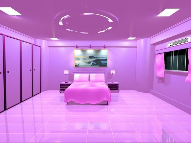 Incredible Cool Bedroom Presents Most Comfortable Space To Sleep Purple Bedroom Interior Design Round Tiered