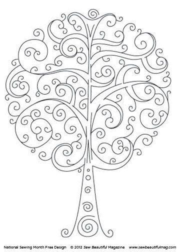 Patrón bordado arbol