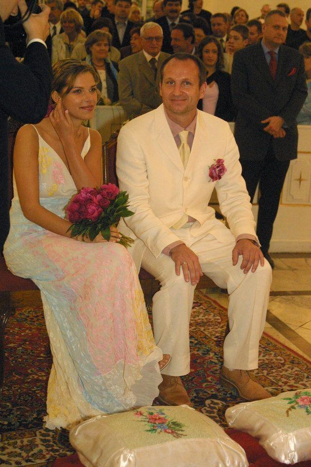 Ślubne zdjęcia gwiazd Ślub Marka Kościkiewicza w 2001 roku