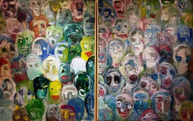 faces. oil on canvas. 2014. pa rang