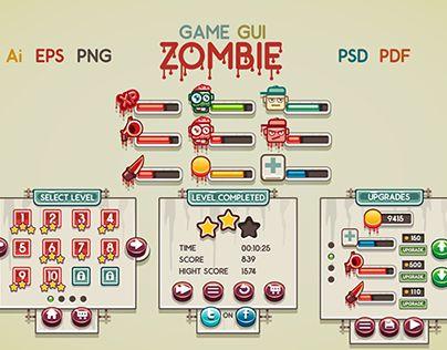 """Confira este projeto do @Behance: """"Game GUI Zombie"""" https://www.behance.net/gallery/18477237/Game-GUI-Zombie"""