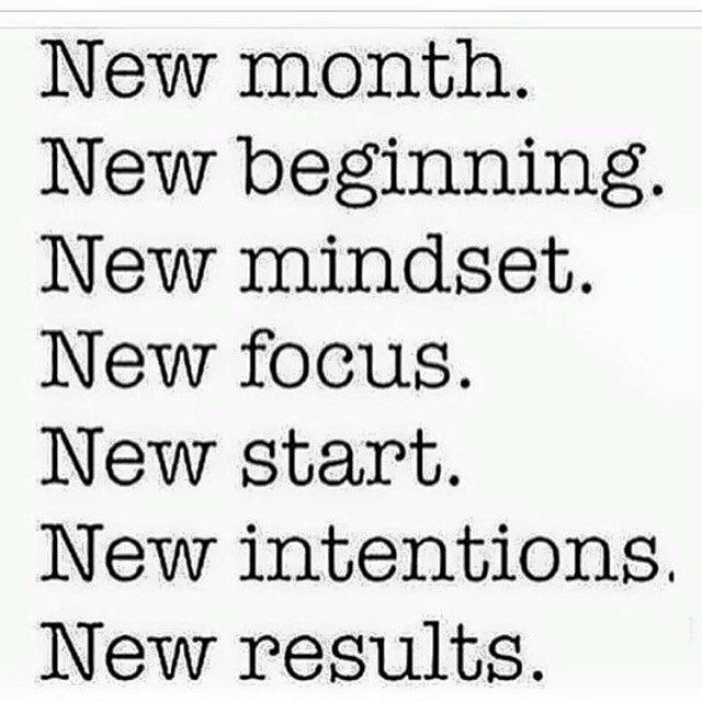 new month beginning mindset focus start intentions
