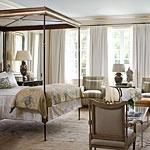 ebonized tables as bedside tables