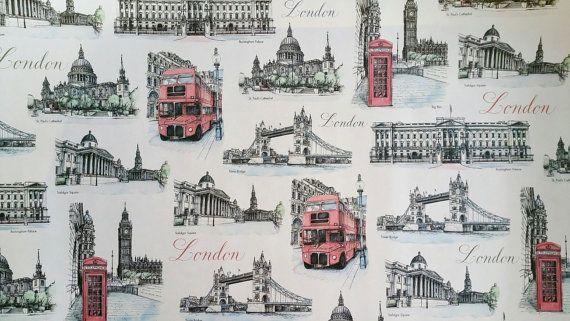 London GIFT WRAP London Paper  London Wrapping by OneDayLongAgo