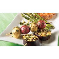Trio de légumes au barbecue | Recettes IGA | Marinade, Brochette, Recette rapide