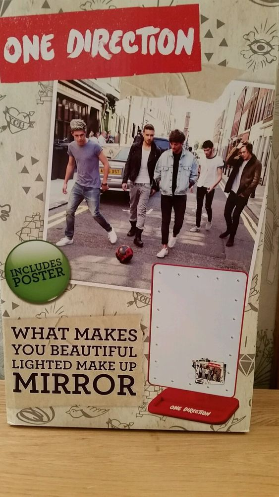 One Direction Mirror with Lights plus poster