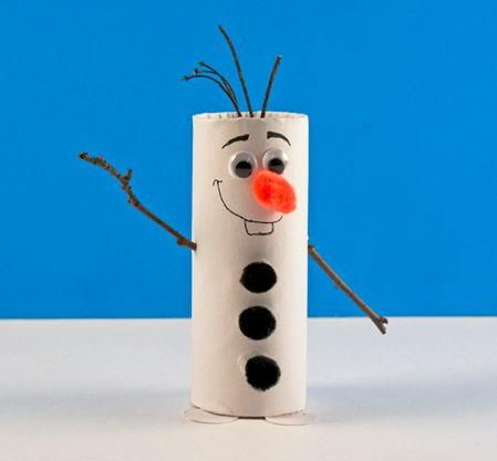 Toilet Paper Roll Olaf the Snowman | AllFreeKidsCrafts.com
