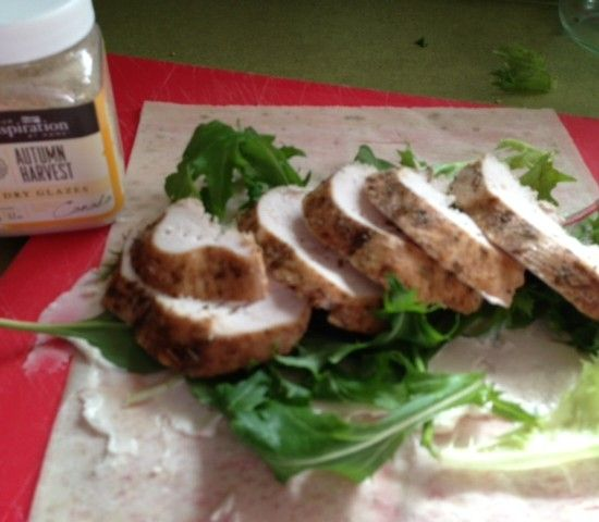 Your Inspiration at Home Autumn Harvest Chicken Wrap. #YIAH #school lunch
