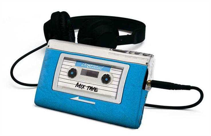 Handy Hülle Audio Retro Luckies Kasette Schutzhülle blau
